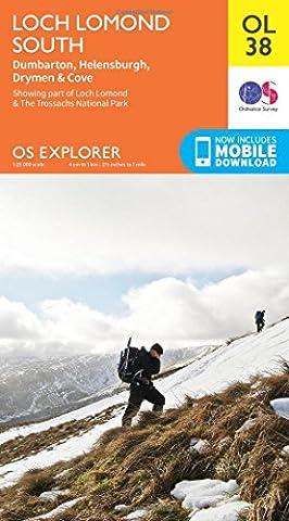 OS Explorer OL38 Loch Lomond South (OS Explorer Map)