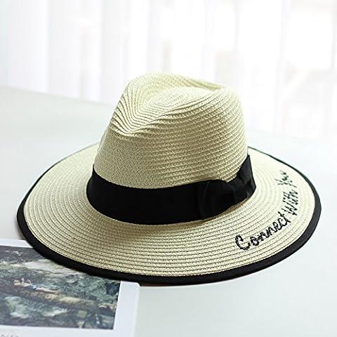 Hat, lettre hat, chapeau de soleil, chapeau de paille, chapeau de sortie de plage, le pare-soleil hat,AJUSTABLE,l'ivoire