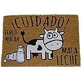 koko doormats felpudos Entrada casa Originales, Fibra de Coco y PVC, Felpudo Exterior Cuidado Tengo Mucha Mala Leche!!, 40x60