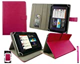 Emartbuy Hot Rosa Eingabestift + Universalbereich ( 8 - 9 Zoll ) Hot Rosa Multi Winkel Folio Executive Case Cover Wallet Hülle Schutzhülle mit Kartensteckplätze Geeignet für Gigaset S30853-H1166-R101 QV 830 8 Zoll Tablet