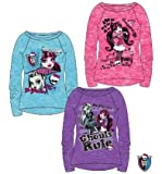 Langarmshirt Monster High blau Gr. 140