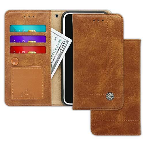 V30S, V30S +, V30S ThinQ, V30S ThinQ +, V35 ThinQ, V35 ThinQ + Case Trim LINE Flip-Tagebuch-Abdeckung mit Wallet-Entwurf - Kartenhalter, Geldautomaten, Seitenständer,Hush Brown ()