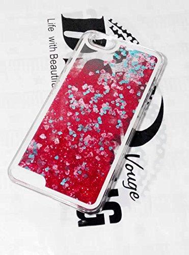 yaobaistore iPhone 6(11,9cm) mignon Lovely Creative Fleur Design Fluide Dynamique Bling Glitter pétales Drift Débit Sable Skin Coque rigide pour Apple iPhone 6(11,9cm) iPhone 6G, livré avec style rouge - Rouge