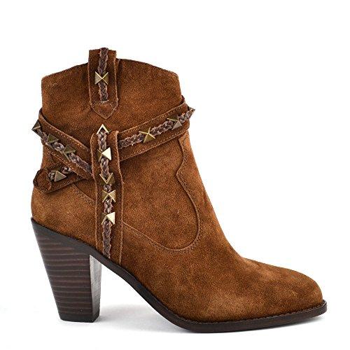 Ash Footwear Ash Chaussures Ilona Boots a Talon en Daim Russet Femme