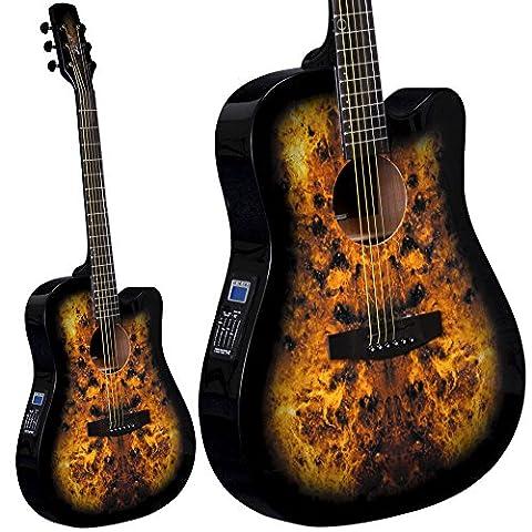Lindo Guitars slim Venus Guitare électro-acoustique avec préampli F-4T Tuner et sac de transport