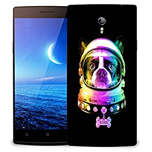 Snoogg Dog Astronaut Designer Protective Back Case Cover For OPPO FIND 7