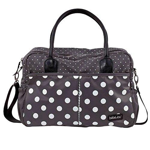 Preisvergleich Produktbild bébé-jou 310030 Wickeltasche mit auflage, grey Dots