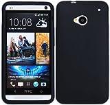 Luxburg®® In-Colour Design Schutzhülle für HTC One M7 in Farbe Schwarz, Hülle Case aus Silikon