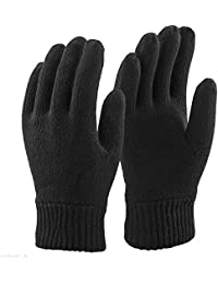 Thinsulate Mens 3M Black Thermal Lined Winter Gloves