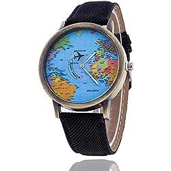 World Map Watch Relogio Feminino Fashion Women Watch Casual Luxury Jeans Quartz Watches Hot Selling