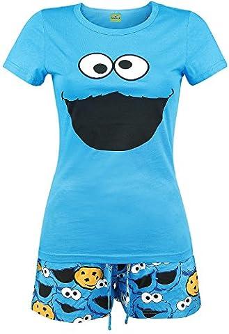 Sesamstraße Krümelmonster Pyjama royalblau XL