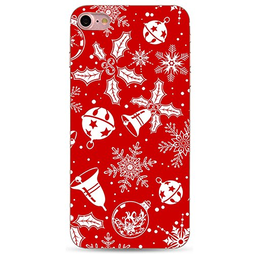 iPhone 6 / 6S 4.7 Zoll Case Cover,Sunroyal Ultra Thin Dünn Soft TPU Santa Claus Christmas Muster Entwurf Silicone Back Skin Shock Absorption Bumper Shell Skin Protective Cover Hülle for iPhone 6 / 6S  Pattern 06