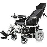 Rollstühle Electric Power Chair Faltbare Reise Elektro Walker Rollstuhl Folding leichte, tragbare Mobilitätshilfen Ausrüstung für Behinderte und ältere Liegesitzlehne -