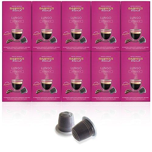 DANIELS BLEND - 100 Cápsulas de Café Compatibles con Máquinas Nespresso - LUNGO