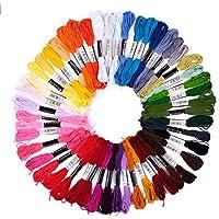 Pajoma - Set di Filo da Ricamo, 74 Pezzi, Multicolore, in Poliestere, Perfetto per Braccialetti dell'amicizia, Ricamo, Punto Croce, Accessori
