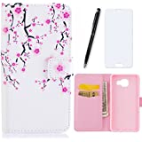 Samsung Galaxy A5 2016 Coque-Lotuslnn Flip Housse Etui Cuir Samsung Galaxy A5 2016 Cases and Covers Flip Style pour Samsung Galaxy A5 2016-(magnetic closure Coque + Stylus Pen + Screen Protector)