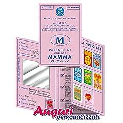 Idea Regalo - Bombo Biglietto Auguri patente Mamma