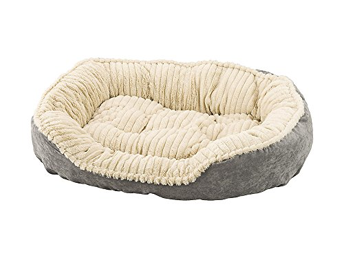 ethical-pets-sleep-zone-carved-plush-pet-bed-100-recyclable-poly-fill-gray-32