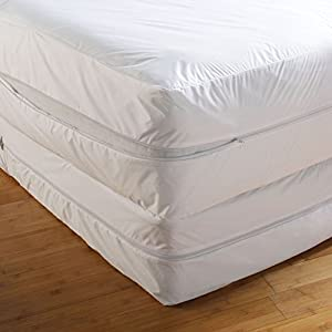 Lab Certified Bed Bug Proof Mattress Cover Rust Protection Cover Absorbent Allergy Tested Anti Dust Mite Anti Bacterial Non Noisy Ease Allergy Itch 6Months Guarantee