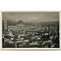 Primi '900 Firenze Panorama Cattedrale Cupola Città Campanile FP B/N Cartolina Postale