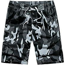 NiSeng De Los Hombres De Pantalones Camuflaje Cortos De Boardshorts Beachshorts De La Playa Del Verano Surf Shorts
