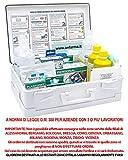 ONFARMA FARMA 2 Bianca Cassetta Medica Primo Pronto Soccorso Conforme DM 388 Allegato 1 per aziende con 3 o più Lavoratori Completa di Cartello Primo Soccorso