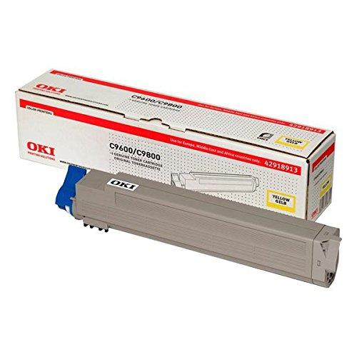 OKI 42918913 C9600, C9650, C9800, C9850 Tonerkartusche 15.000 Seiten, gelb -