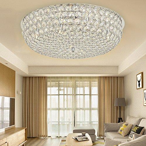 8 Light Halogen Kronleuchter (N3 Lighting Ø52CM Premium 8-Lights G9 Moderne elegante Runde Deckenleuchte Pendelleuchte Beleuchtung Crystal Chandelier)