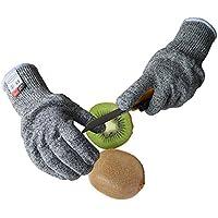 Malloom Un par de guantes resistentes al corte Nivel de grado alimenticio 5 Protección en funcionamiento Clase de corte 5 Guantes a prueba de corte