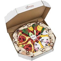 Pizza Socks Box – Mix Caprichosa Vege Pepperoni Unos calcetines únicos, originales, fabricados en la UE ideales como regalo! Talla: 41 42 43 44 45 46 Sorprende a tus amigos Algodón, no fullprint