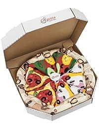 Pizza Socks Box – Mix Caprichosa Vege Pepperoni Unos calcetines únicos, originales, fabricados en la UE ideales como regalo! Talla: 36-40 41-46 Sorprende a tus amigos Algodón, no fullprint