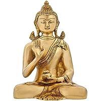 Buddha statua buddismo tibetano simbolo di Buddha in ottone,