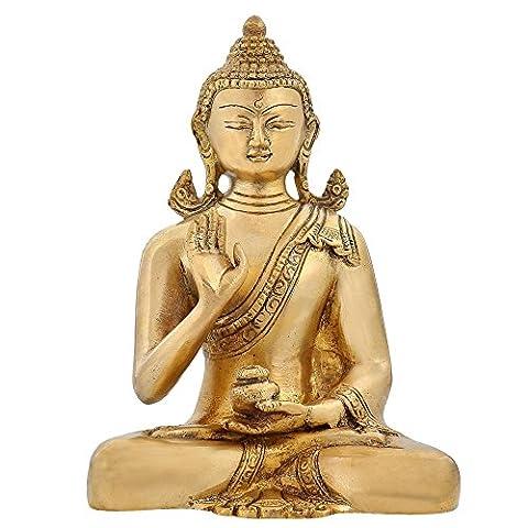 Statue de Bouddha bouddhisme tibétain Symbole médecine Bouddha 6 pouces