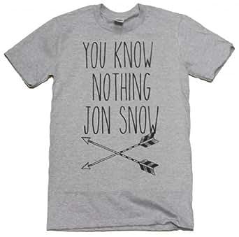 21Century Clothing You know nothing Jon Snow Women's T-Shirt -  Grey - Large