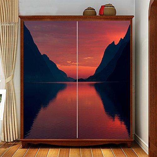 Yazi personalizzato sfondo vista moderno dimensioni armadio adesivi carta da parati