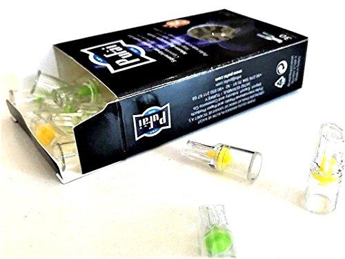 Zigarettenfilter. 30 Stück (1 dunkle Box * 30 Filter) Einweg normale Größe [8 mm] Zigarettenfilter Halter. Neues 8-Loch-Filtersystem von Pufai (Kohle-faser-filter)