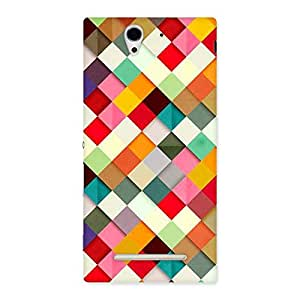 Delighted ColorFull Ribbons Print Back Case Cover for Sony Xperia C3