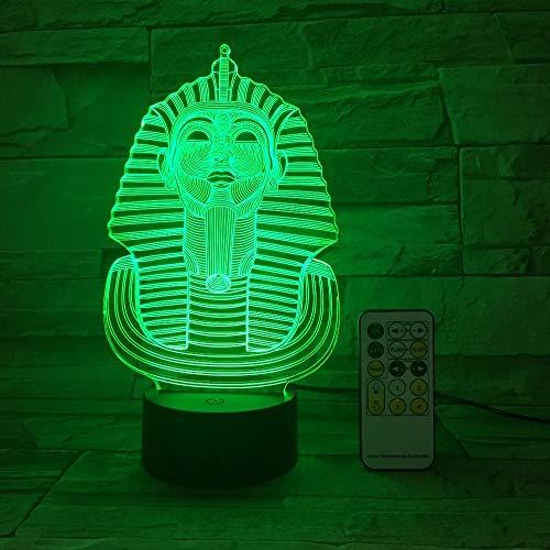 Lampada da tavolo USB creative 3D LED vision 7 colori camera da letto regalo comodino luce notturna 2 Nessun contro
