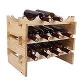 XIAPENGModernen Einfache Pinien Speicher Protokoll Farbe Lagerung Wine Rack 50 * 32 * 40.2 cm Wohnzimmer Bar 12 Flaschen 750ML Rotwein