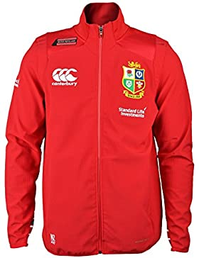 British & Irish Lions Vaposhield Anthem Jacket w/Zipped Pockets - Tango Red