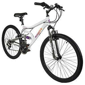 51ubqSUt4nL. SS300  - Muddyfox Inspire, Womens Dual Suspension 18 Speed Mountain Bike - White/Grey, 26 inch Wheels.