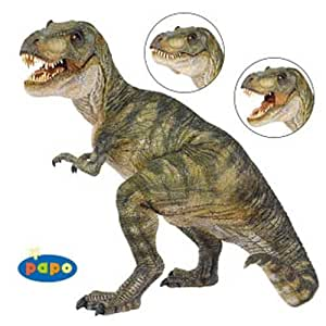 papo (pa port companies) figure 55001 T Rex (Tyrannosaurus) Brown (japan import)