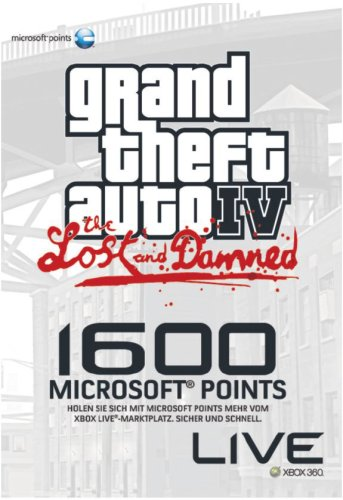 Xbox 360 - Xbox Live Microsoft Points Card - 1600 Punkte - GTA IV Limited Edition