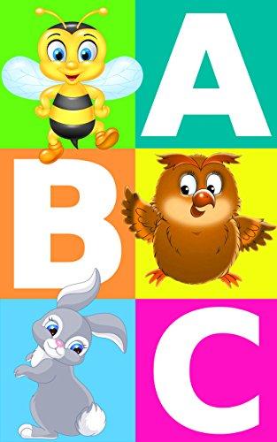 Alfabeto ABC con imágenes de animales | aprendiendo para niños | colorear: ABC un libro para niños con juegos al final por Suzy Mako