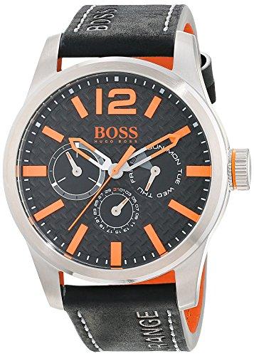 BOSS Orange - 1513228 - Montre Homme - Quartz - Analogique - Bracelet cuir Noir