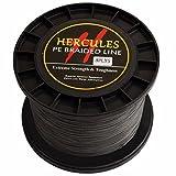Hercules PE Superline geflochtene Angelschnur 2000?m 1640yds 10lb-200lb, 8-fach, Herren, grau, 90lb/40.8kg 0.50mm