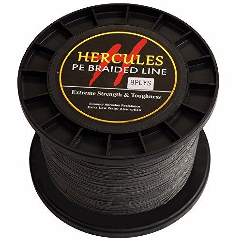 Hercules PE Superline geflochtene Angelschnur 1000?m 10lb-300lb, 8-fach, Herren, grau, 200lb/90.7kg 0.75mm