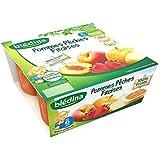 Blédina coupelles fruits pomme peche fraise 4 x 100 g dès 6 mois - ( Prix Unitaire ) - Envoi Rapide Et Soignée