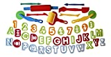 Kids B Crafty New Play Dough Tools Cutter Kit Numbers And Letters 45 Pieces By