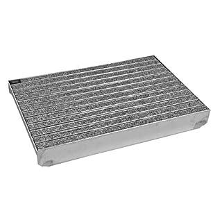 Emco Eingangsmatte DIPLOMAT hellgrau Rips + ALU Bodenwanne Fußmatte Schuhabstreifer, Größe:1000 x 500 mm
